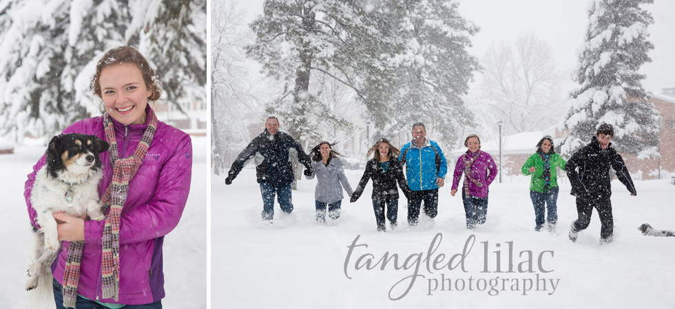 Snow Day Sessions Flagstaff Winter Family Photography