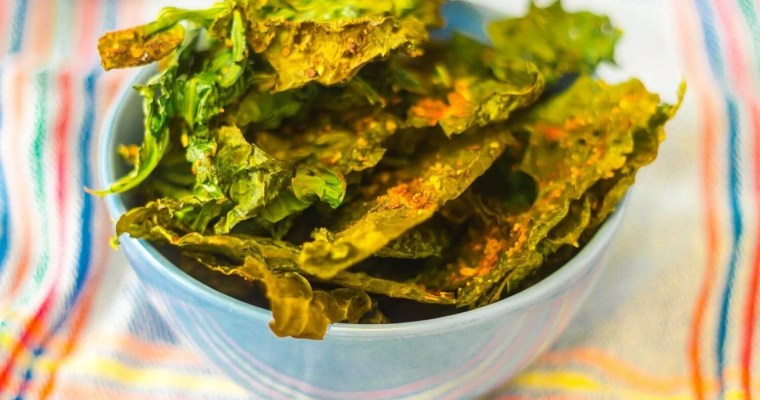 How-to-make-spicu-kale-chips-serving