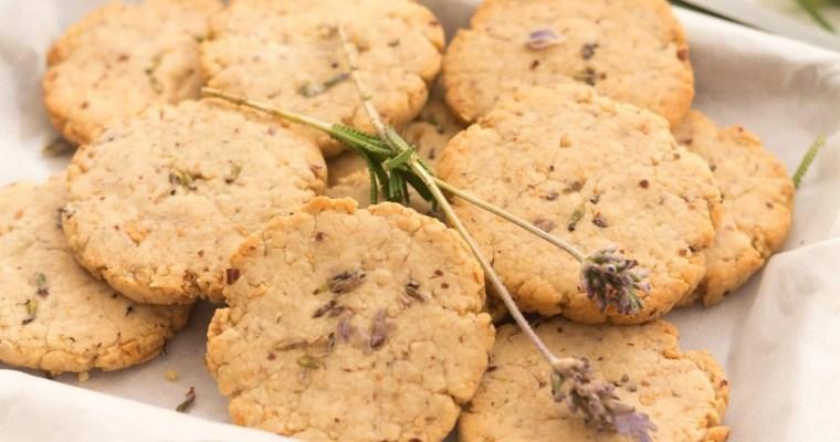 Lavender Nut Cookies