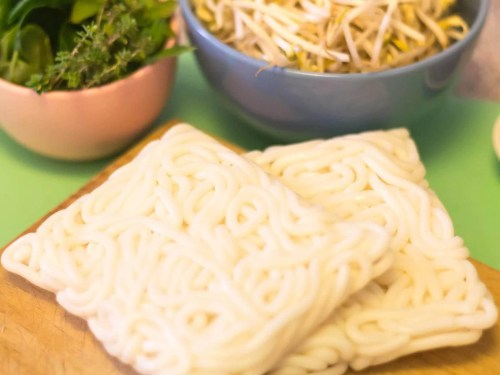 Cao-Lau-Vietnamese-Noodle-Bowl-Ingredients-Udon-Noodles-Sprouts-and-fresh-herbs