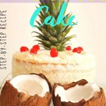 Piña Colada Cake - step-by-step recipe -pin1