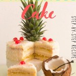 Piña Colada Cake - step-by-step recipe -pin3