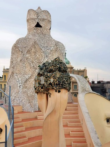 Casa Mila (La Pedrera), Barcelona - Full Guide - Rooftop - broken glass topped chimney