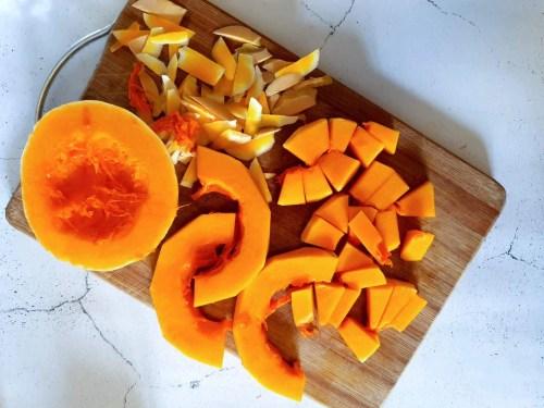 Baked Halloween Pumpkin Donuts - cut pumpkin