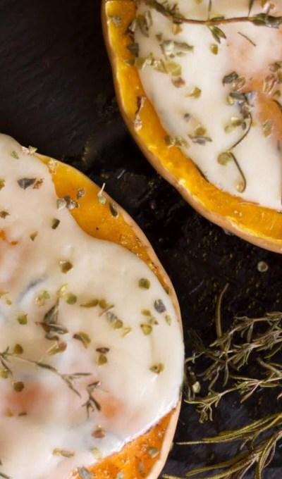 Roasted Butternut Pumpkin With Mozzarella