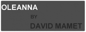 Oleanna by David Mamet logo