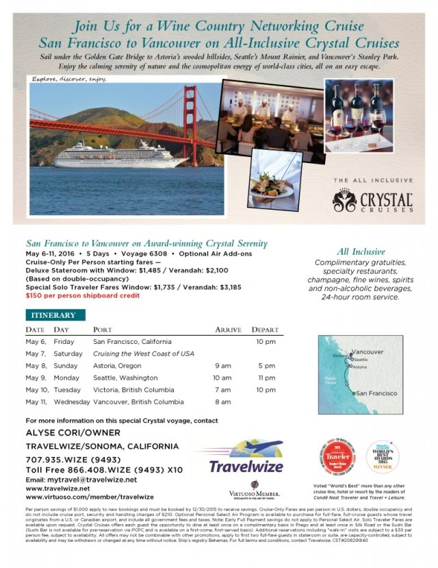 Wine Country Networking Cruise