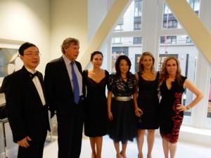 Dr. David Kang, Richard Blum, Dr. Clara Shayevich, Dr. Lisa Kang, Eileen Blum Bourgade and Sophie Azouaou