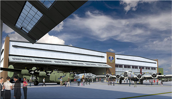 A rendering of what the new Yankee Air Museum will look like.