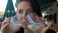 Sarah drinks to Croatia's capital