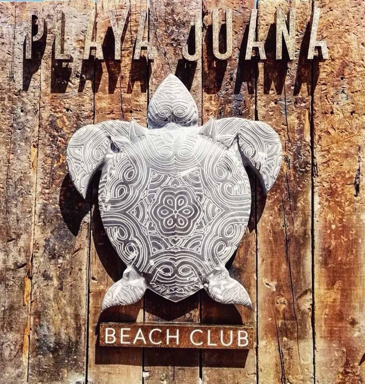diseñp de logotipo en madera para beach club