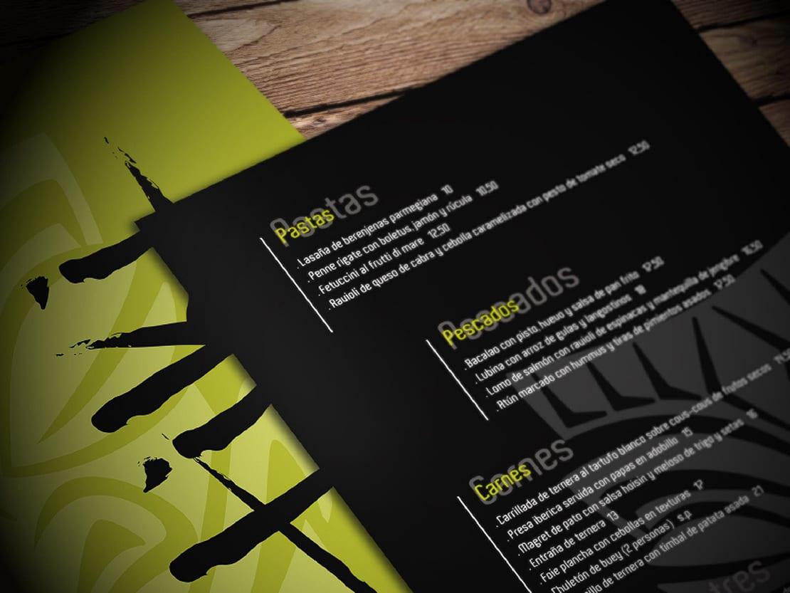 TIKI, comida fusion diseño de cartas
