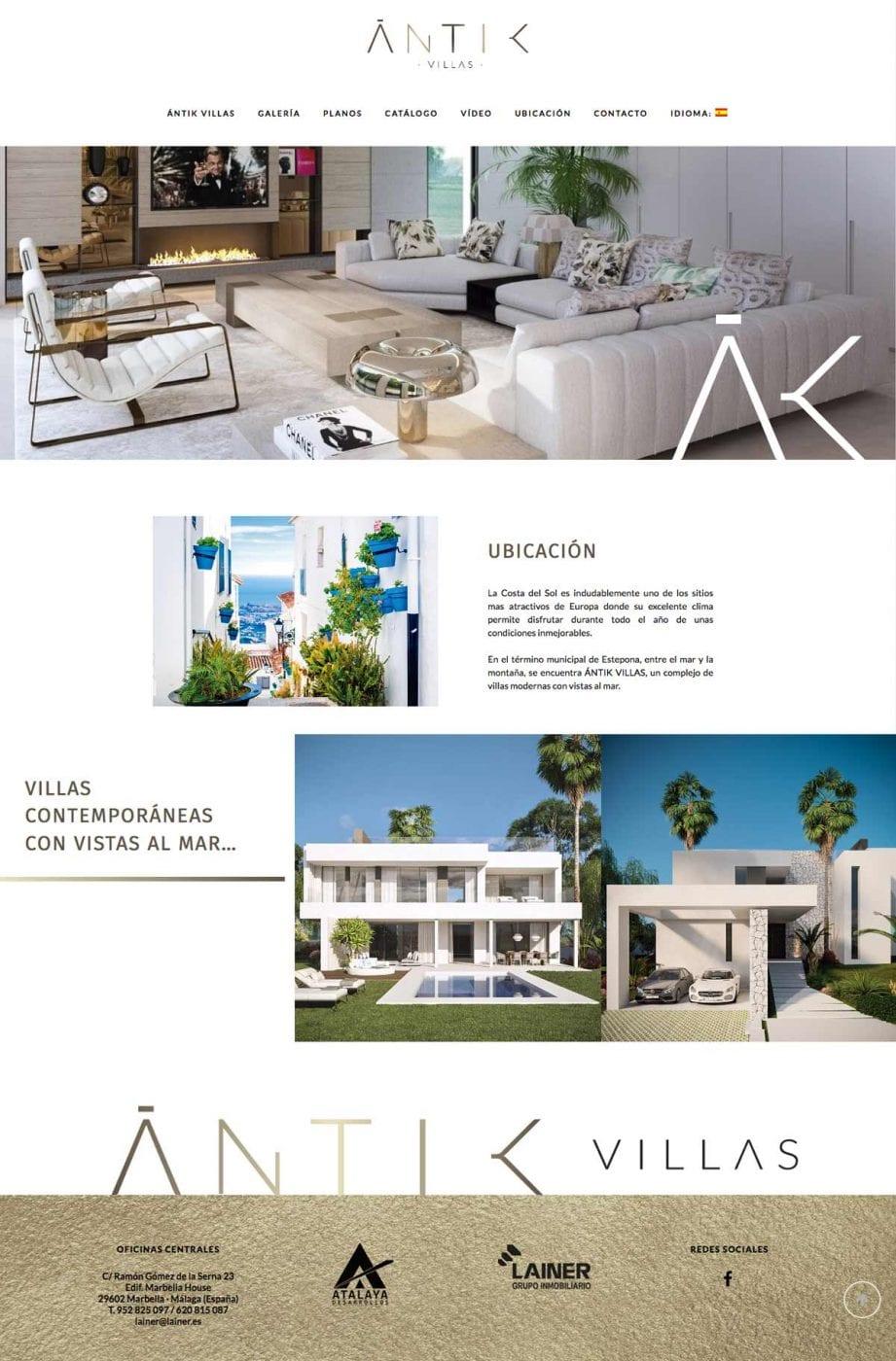 diseño de pagina web blanca