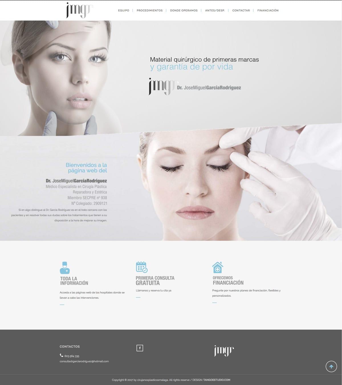 diseño de web minimalista y elegante