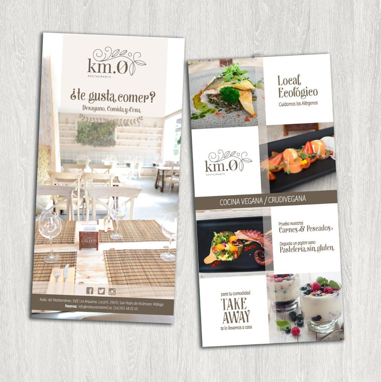 Diseño de flyer para restaurante ecologico