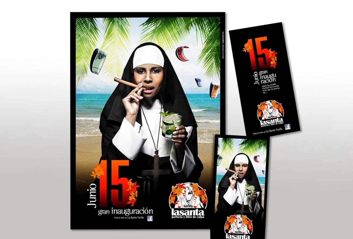 La santa, Tarifa, perfecta y libre de culpa, inauguración, creatividad