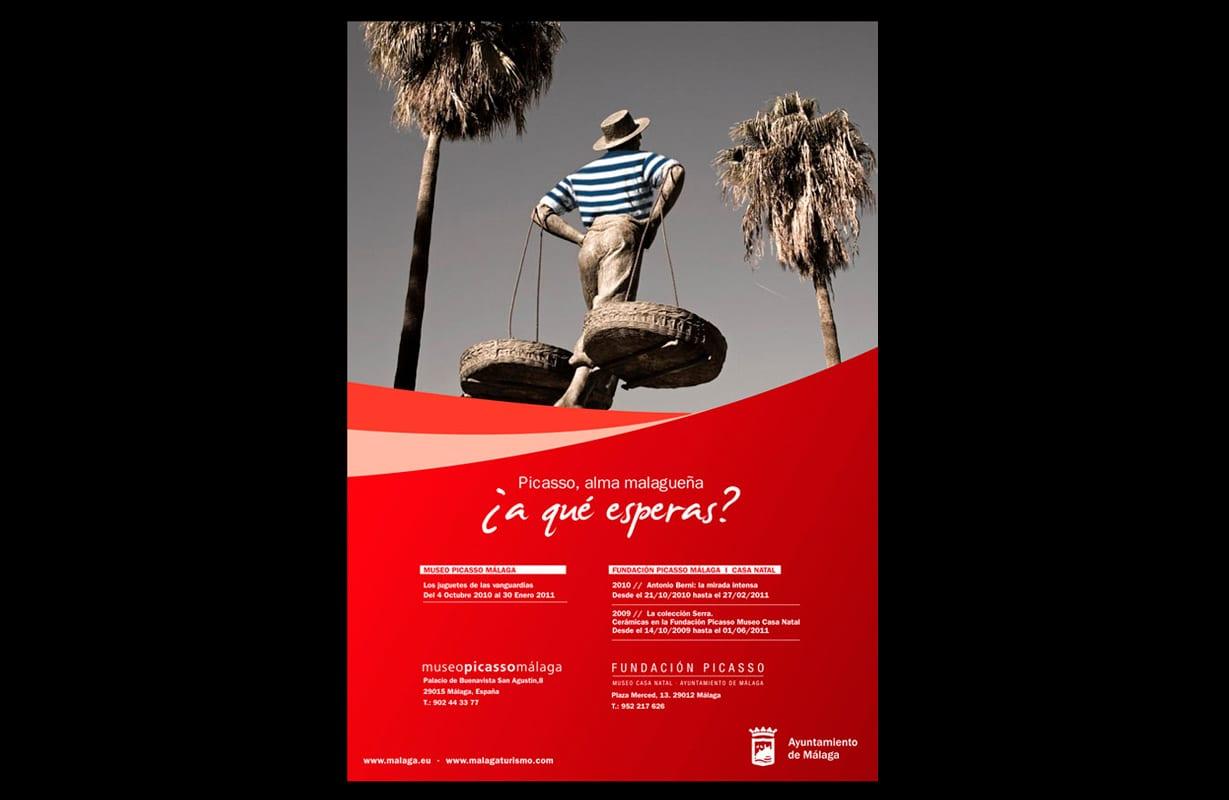 anuncio creativo Picasso. Campaña institucional