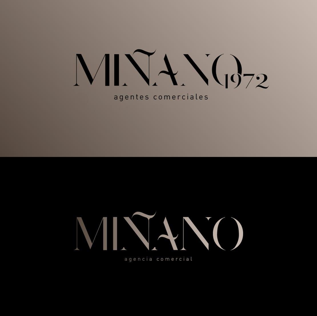 Miñano, diseño de logo clasico