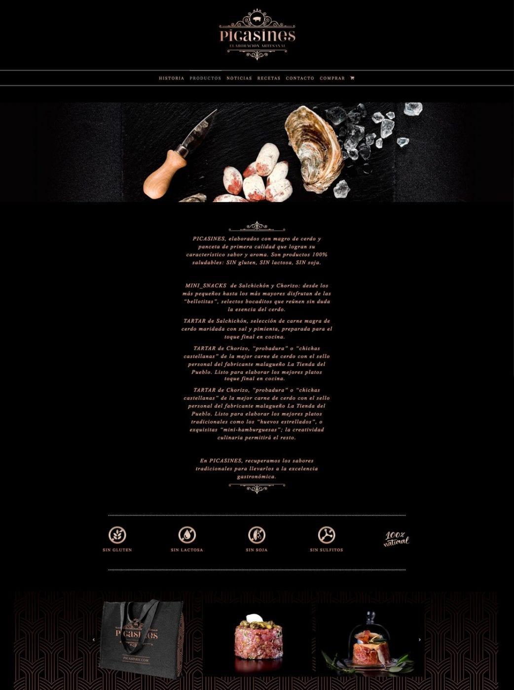 Picasines, diseño web, webs elegantes
