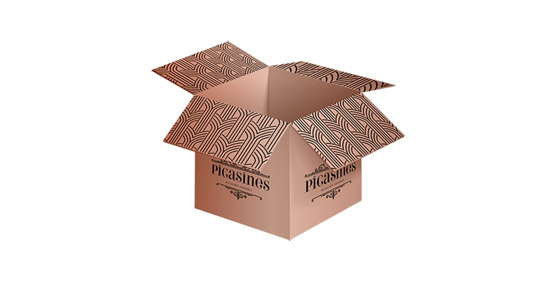 Picasines, packaging