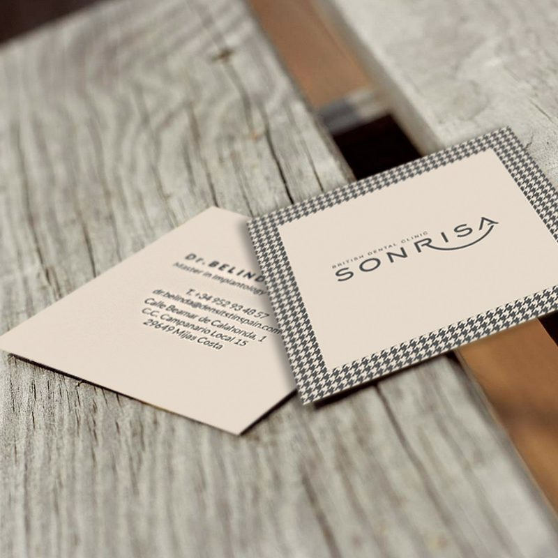 tarjetas visita branding, Sonrisa, Mijas Málaga