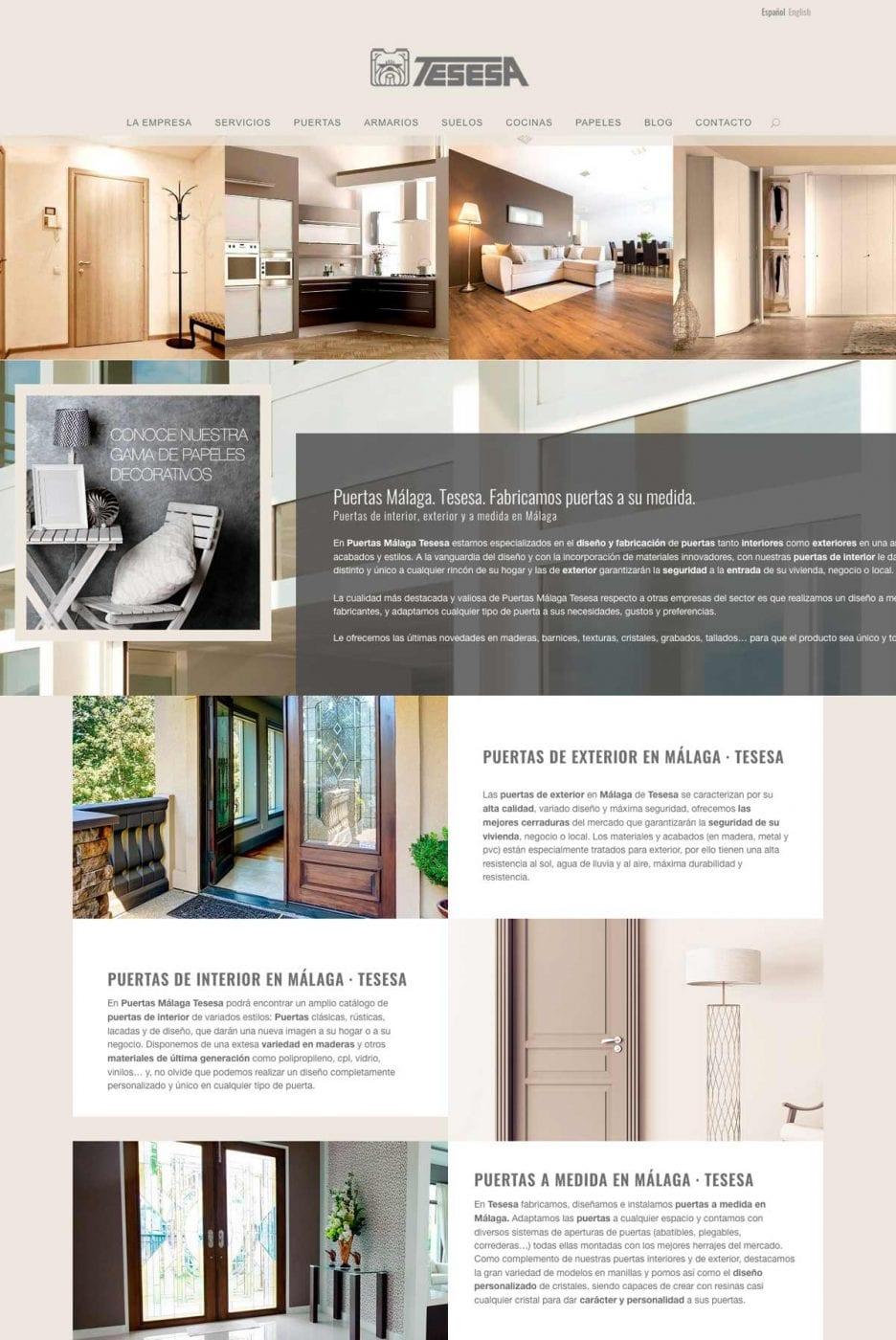 diseño de landing page para servicios de empresa