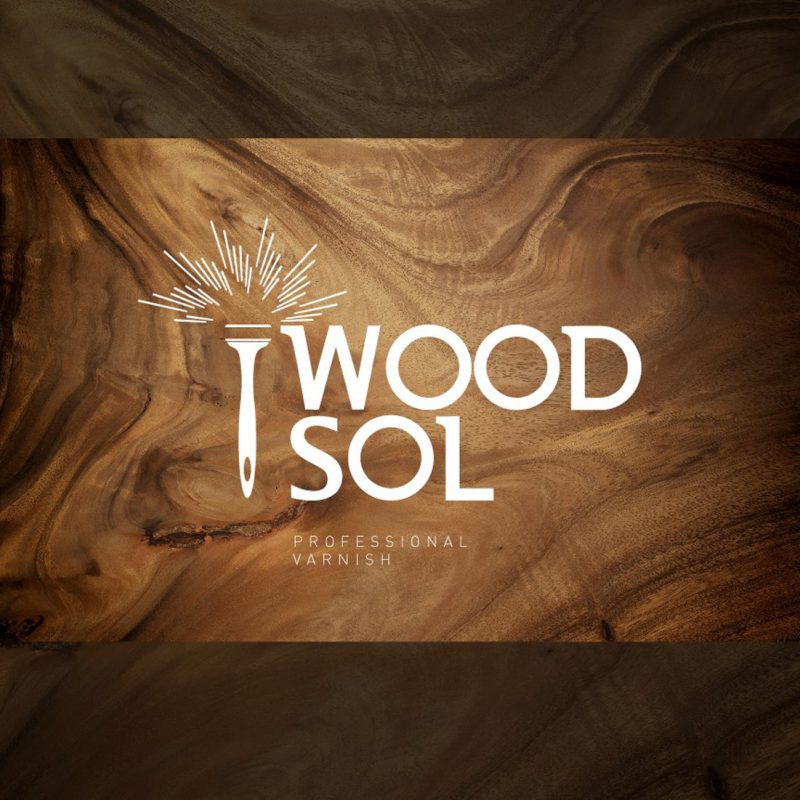 diseño de logo bonito sobre madera