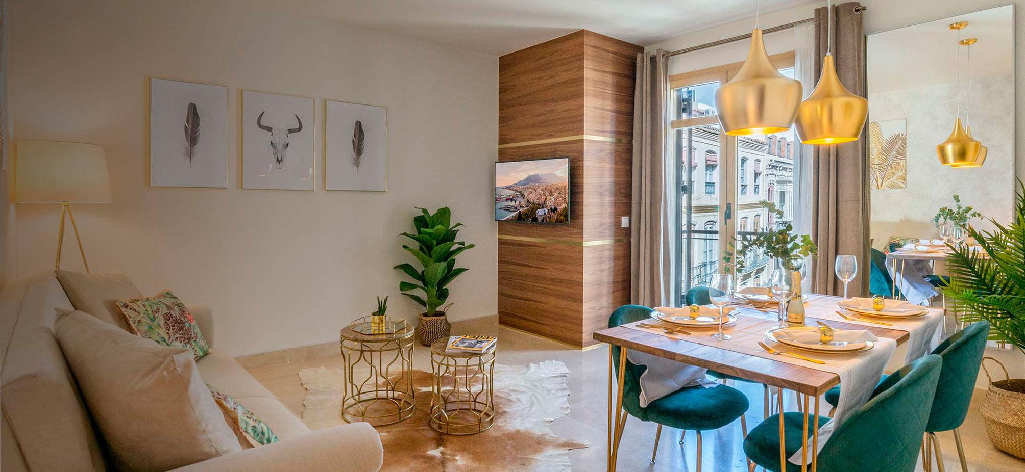 Diseño de interiores y decoración para apartamentos vacacionales en málaga