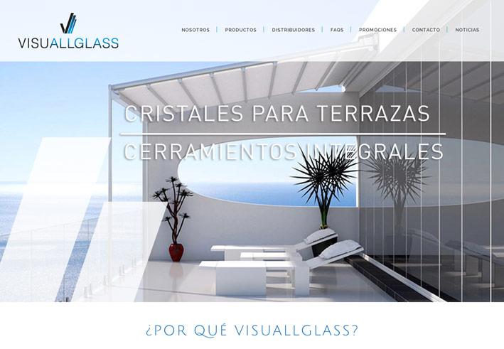 diseño de landing page para empresa de cerramientos