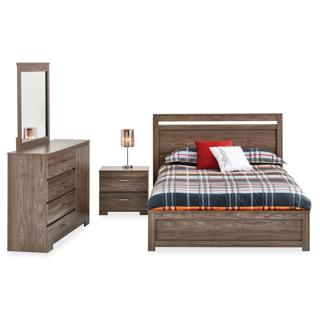 mobilier de chambre a coucher queen grand 2 places