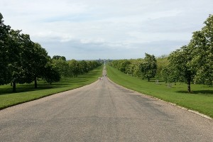 The Long Walk w Windsorze - Zamek Krolewski Windsor - 90-te urodziny królowej Elżbiety II