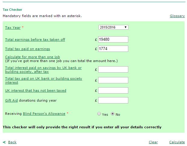 Kalkulator podatkowy w UK