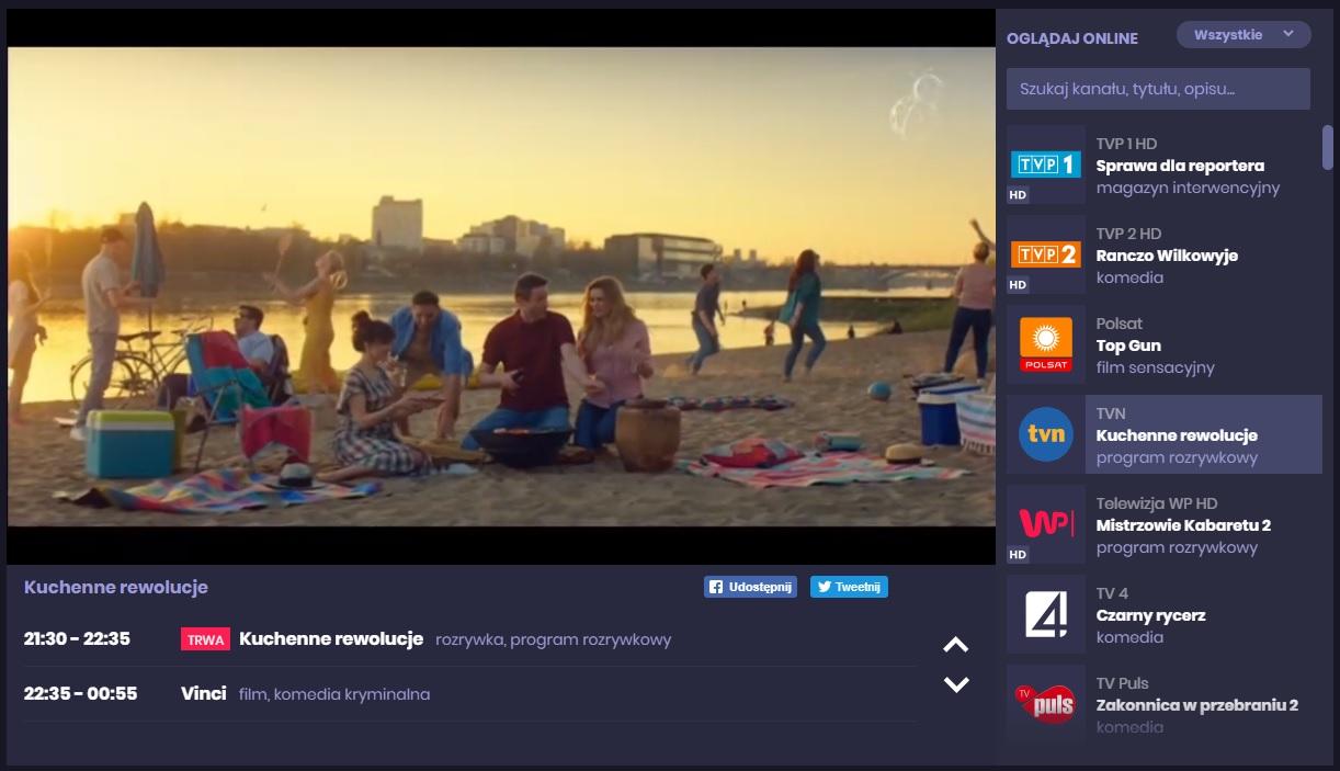 polska telewizja za granicą bez opłat przez internet weeb.tv