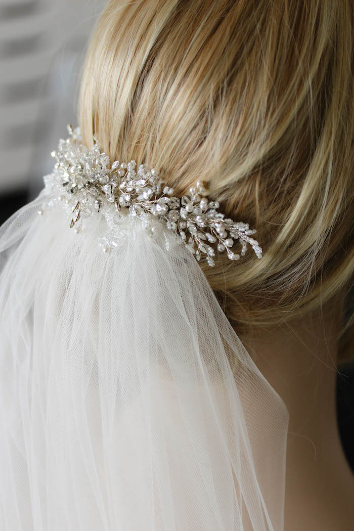 Refined Classics A Delicate Silver Wedding Hair Comb For