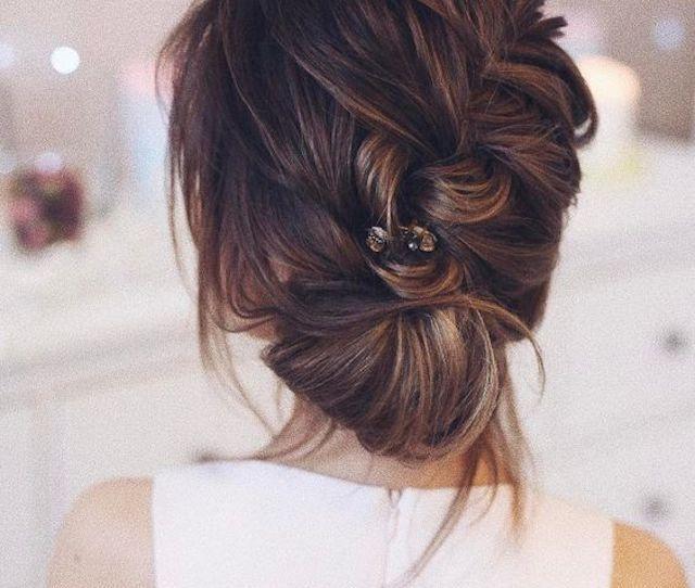 Soft Braided Wedding Updo  Bridal Hair Trends