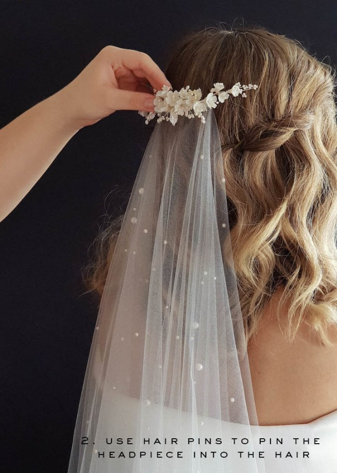 wedding veils and headpieces   how to create the layered