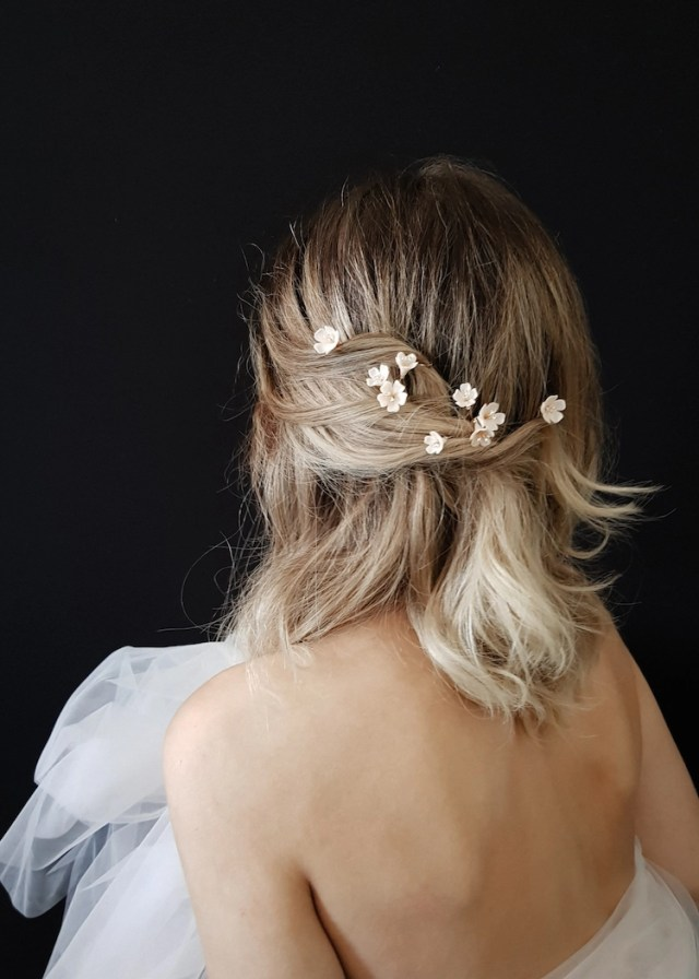 small but mighty | delicate bridal hair pins for the modern