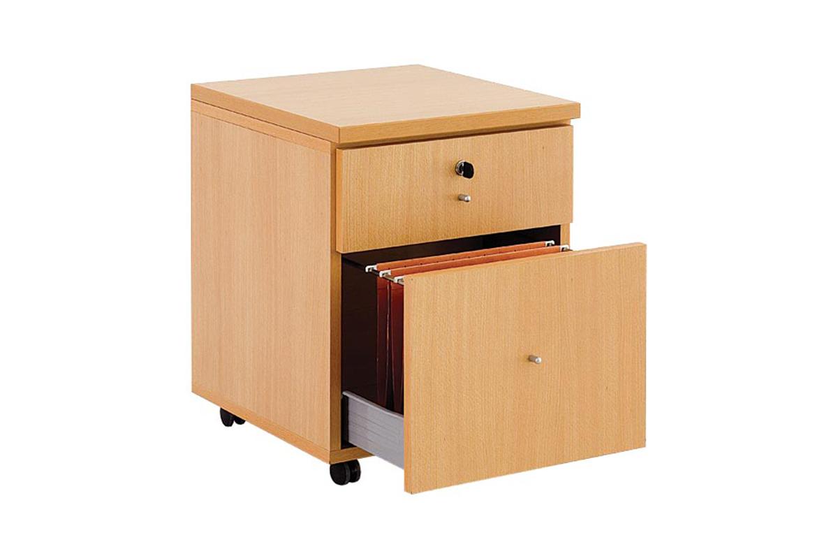 bloc tiroirs avec dossiers suspendus