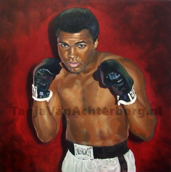 The Greatest, 100x100cm, acryl op doek