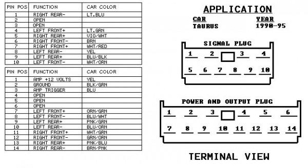 2001 ford taurus radio wiring diagram  atv winch contactor