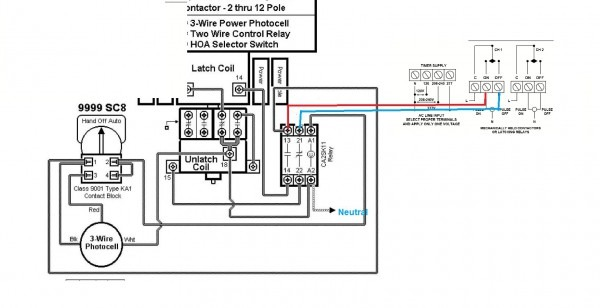 wiring diagram lighting contactor with photocell  sl fuse