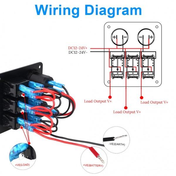 diagram 12 volt rocker switch panel wiring diagram full