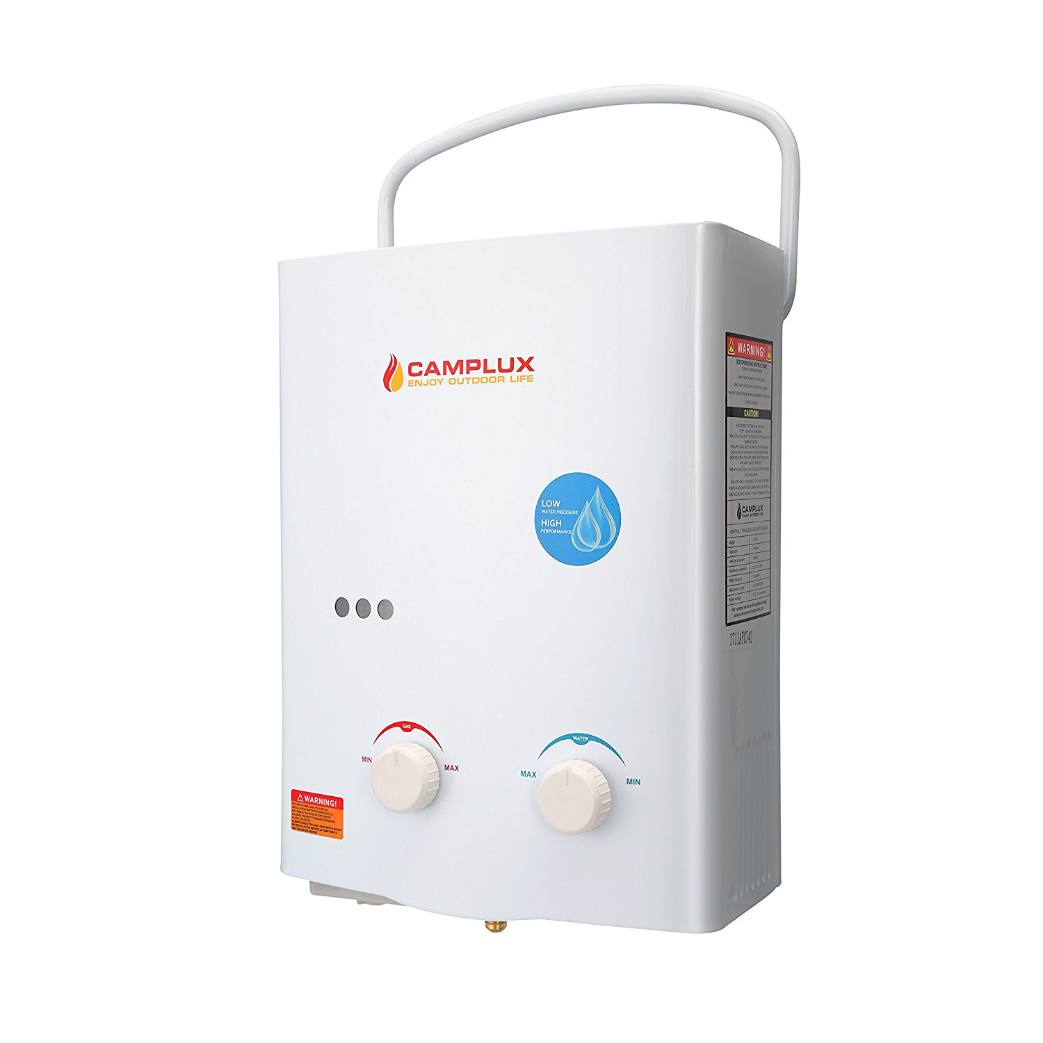 Camplux 5L Outdoor 1.32GPM Portable Propane Gas Tankless Water Heater