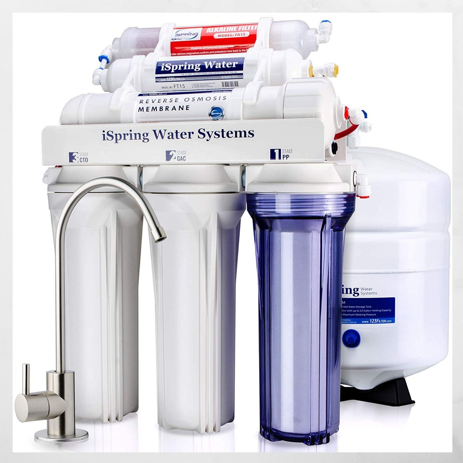 iSpring RCC7AK 6- High Capacity under Sink Reverse Osmosis Drinking Water Filter System