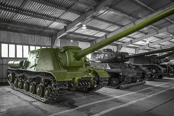 The ISU-130 preserved at Kubinka.