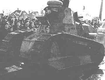 Camouflaged Renault FT-17