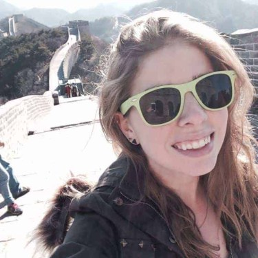 Maddy Osman at the Great Wall of China