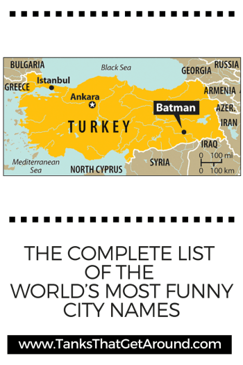 The Complete List of the World's Most Funny City Names