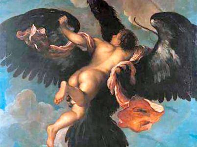"""Ganimede, uno degli """"amori"""" di Zeus"""
