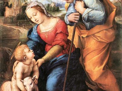 San Giuseppe e la Sacra Famiglia